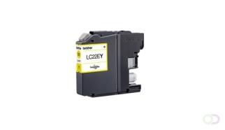 BROTHER LC22EY inkt geel hoge capaciteit 2400 p. voor MFCJ5920DW