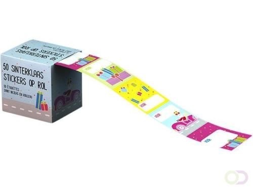 Cadeaunaamstickers sint doos à 50 stickers assorti