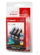 CANON CLI-521 C/M/Y inktcartridge cyaan, magenta en geel 1-pack blister with security
