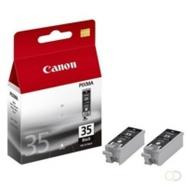 CANON PGI-35 inktcartridge zwart 2-pack blister met alarm