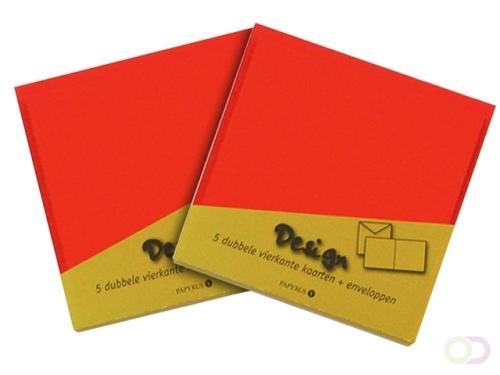 Dubbele kaarten Papyrus 105x148mm ivoorwit