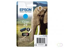 Epson Elephant Singlepack Cyan 24 Claria Photo HD Ink