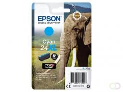 Epson Elephant Singlepack Cyan 24XL Claria Photo HD Ink