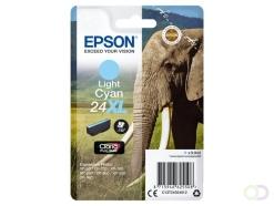 Epson Elephant Singlepack Light Cyan 24XL Claria Photo HD Ink