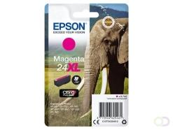 Epson Elephant Singlepack Magenta 24XL Claria Photo HD Ink