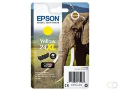 Epson Elephant Singlepack Yellow 24XL Claria Photo HD Ink