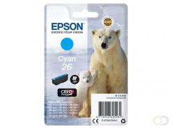 Epson Polar bear Singlepack Cyan 26 Claria Premium Ink