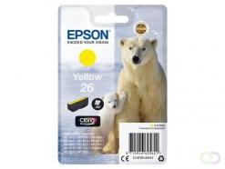 Epson Polar bear Singlepack Yellow 26 Claria Premium Ink