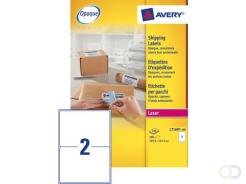 Etiket Avery L7168-100 199.6x143.5mm  wit 200stuks