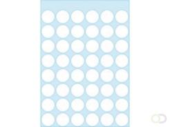 Etiket Herma 1860 rond 12mm wit 240stuks