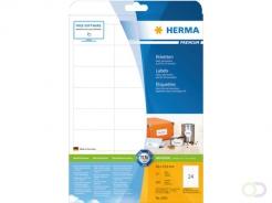 Etiket Herma 5053 66x33.8mm premium wit 600stuks