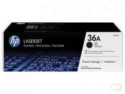 HP 36A 2-pack Black Original LaserJet Toner Cartridges Cartouche 4000pages Noir