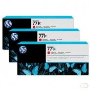 HP 771C originele ink cartridge chromatisch rood standard capacity 3 x 775ml 3-pack