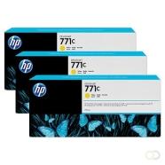HP 771C originele ink cartridge geel standard capacity 3 x 775ml 3-pack
