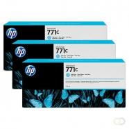 HP 771C originele ink cartridge licht cyaan standard capacity 3 x 775ml 3-pack