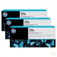 HP 771C originele ink cartridge licht magenta standard capacity 3 x 775ml 3-pack