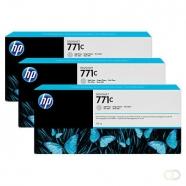HP 771C originele ink cartridge lichtgrijs standard capacity 3 x 775ml 3-pack