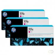 HP 771C originele ink cartridge magenta standard capacity 3 x 775ml 3-pack