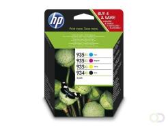 HP 934XL Origineel Zwart, Cyaan, Magenta, Geel Multipack