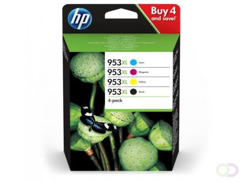 HP 953XL Origineel Zwart, Cyaan, Magenta, Geel Multipack