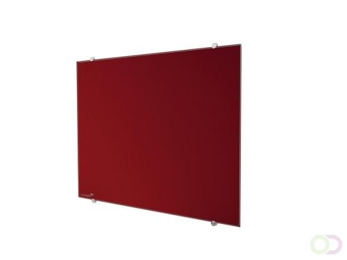 Legamaster glasbord 90x120cm rood