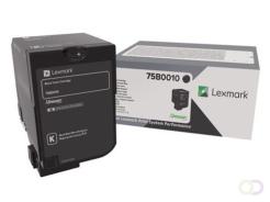 Lexmark 75B0010 tonercartridge Origineel Zwart 1 stuk(s)