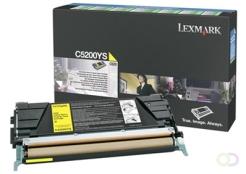 LEXMARK C520, C530 tonercartridge geel standard capacity 1.500 pagina's 1-pack return program