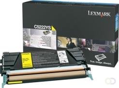 LEXMARK C522n, C524 tonercartridge geel high capacity 3.000 pagina's 1-pack