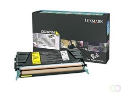 LEXMARK C524, C532, C534 tonercartridge geel high capacity 5.000 pagina's 1-pack Return program