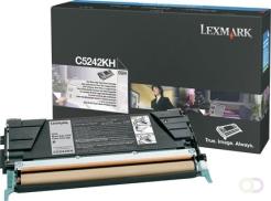 LEXMARK C524 tonercartridge zwart high yield 8.000 pagina's 1-pack