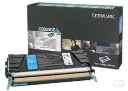 LEXMARK C530 tonercartridge cyaan standard capacity 1.500 pagina's 1-pack return program