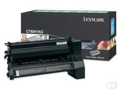 LEXMARK C782, X782e tonercartridge zwart standard capacity 10.000 pagina's 1-pack return program