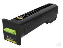LEXMARK Toner Extra High Yield Return Program Yellow for CS820 22k