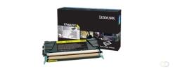 LEXMARK X746, X748 7K tonercartridge geel standard capacity 7.000 pagina's 1-pack