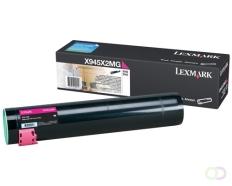 LEXMARK X940e, X945e tonercartridge magenta standard capacity 22.000 pagina's 1-pack