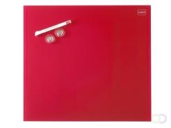Nobo Diamond Magnetisch Glasbord Rood 450 x 450 mm