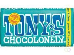 Tony's Chocolonely - Classic Puur Pecan Kokos, 180 gram